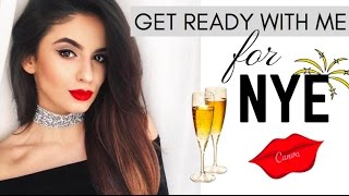 Get Ready With Me - NYE MAKEUP, HAIR & OUTFIT by Ioana Grama