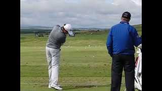 Byeong-hun An golf swing (Driver) - Scottish Open, July 2015, Gullane Golf Club