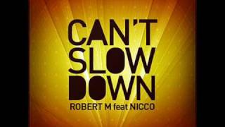 Robert M feat Nicco - Can't slow down + Lyrics [HQ]