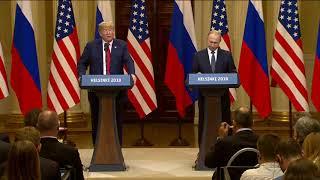 Пресс-конференция поитогам переговоров президентов России иСША