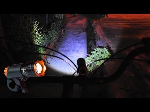 Lampara bicicleta frontal y trasera Truper led Cree 100 lumenes