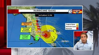 Hurricane Isaias forecast cone shifts closer to land, worse weather still on east side