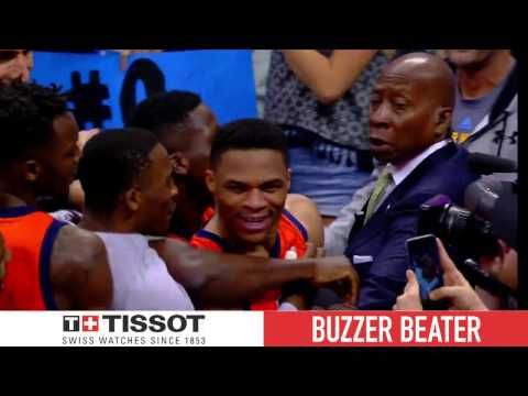 Tissot Buzzer Beater: Westbrook Historic End to Historic Night | April 9, 2017