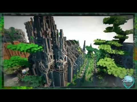 Zombie Apocalypse [I am Legend Map] with 3D scenery Minecraft Project
