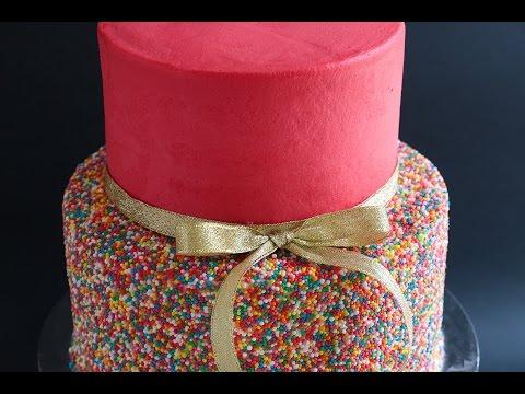 Video Easy 2 Tier Sprinkles Cake Tutorial- Rosie's Dessert Spot