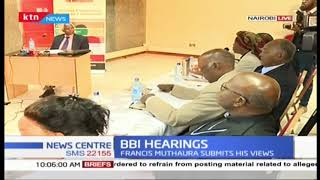 Building Bridges Initiative receive submissions from Ambassador Francis Muthaura