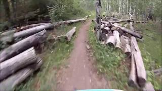 Footage of lower section of the middle Frisco descent.