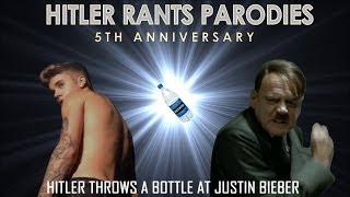 Hitler throws a bottle at Justin Bieber