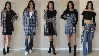 How To Style: Flannel Shirt Dress