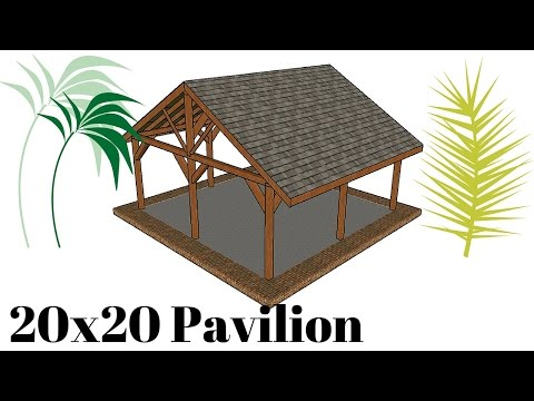 20x20 Outdoor Pavilion Plans