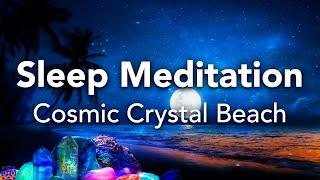 Geführte Schlafmeditation, schnelles Einschlafen, Crystal Beach Meditation, Schlaf Sprich runter
