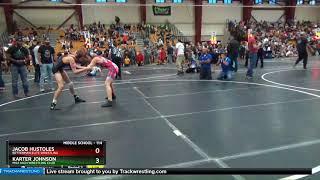 Middle School 114 Karter Johnson Mile High Wrestling Club Vs Jacob Hustoles Betterman Elite Wrestl