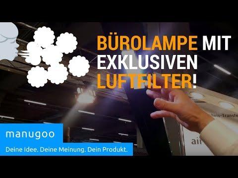 Bürolampe mit Luftfilter- manugoo - iENA Erfindermesse| manugoo