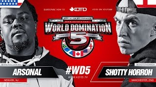 KOTD - Rap Battle - Shotty Horroh vs Arsonal II | #WD5