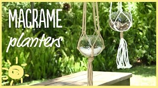 DIY | 5 Minute Macrame Planters