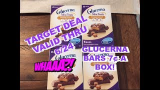TARGET:  GLUCERNA 6CT BARS...7¢ PER BOX THRU 6/24!  WOW.......