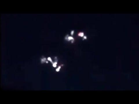 UFO-vloot in gevecht met elkaar in Hartford, Connecticut