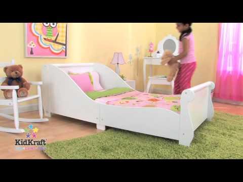 KidKraft 86730 letto a forma di slitta, bianco