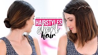 Easy hairstyles for short hair tutorial | Step by step
