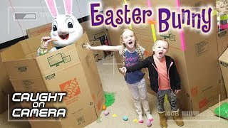 Easter Bunny Caught on Camera in Real Life! We Caught the Easter Bunny in Homemade Trap! It Worked!