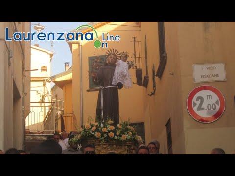 Preview video Video processione festività Sant'Antonio da Padova 2019 Laurenzana 13 giugno 2019