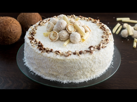 Video Almond Coconut Cake (Raffaello cake) Recipe