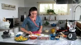 Tu cocina - Rollito de cerdo relleno de flor de calabaza