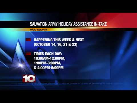 Local Salvation Army starts sign-ups for holiday help