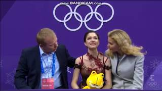 Evgenia Medvedeva Olympics 2018 Kiss n Cry reaction