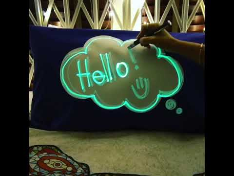 Youtube Video for Glow Sketch Pillowcase