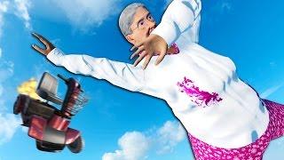 DABBING GRANDMA DOES AMAZING STUNTS - Stuntfest Gameplay #1