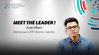 IDF Meet The Leader Evan Filbert Mahasiswa UPN Veteran Jakarta