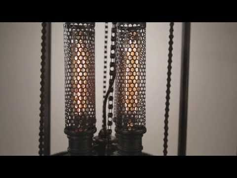 Video for Atlas Aged Pewter Four Light Pendant