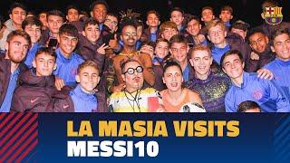 La Masia's kids visit the Messi10 Cirque du Soleil show