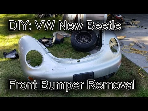 1998-2011 VW New Beetle Front Bumper Removal + Updates