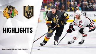NHL Highlights | Blackhawks @ Golden Knights 12/10/19