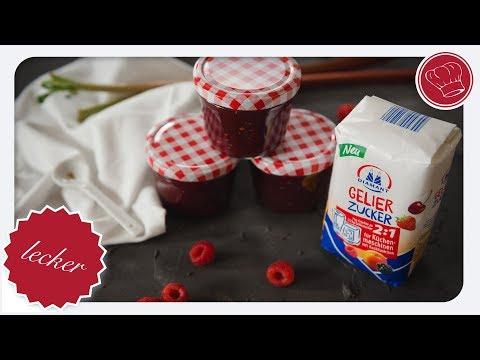 Himbeer-Rhabarber Marmelade mit Diamant Gelierzucker für Küchenmaschinen | elegant-kochen.de