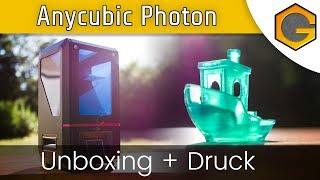 Anycubic Photon - Unboxing + Druck [German/Deutsch]