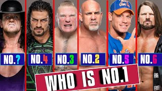 Who Is WWE No 1 Wrestler 2020 | Who is the No 1 Wrestler Of All Time? - Roman Reigns, Undertaker
