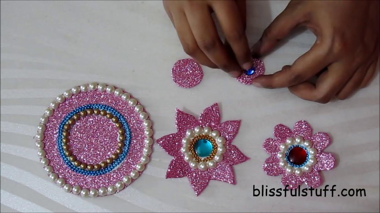 how to make floating kundan rangoli designs by poonam borkar