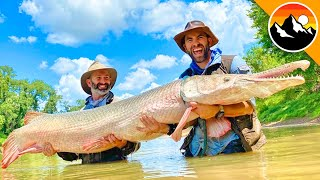 GIANT FISH CAUGHT - Real River Monster! by Brave Wilderness