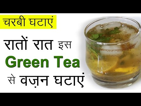 Video Fast Weight Loss with Green Tea | Healthy Weight Loss Recipes | Iced Green Tea Drink For Weight Loss