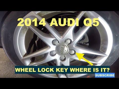 2014 Audi Q5 Wheel Lock Key Location