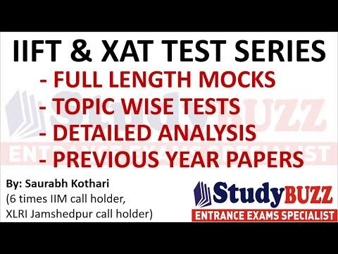 IIFT & XAT test series: Full length mocks, topic wise practice ...