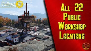 Fallout 76: All 22 Public Workshop Locations