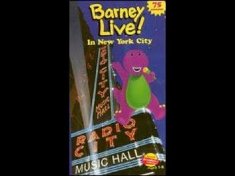 barney live in new york city 2000 vhs how it should have b