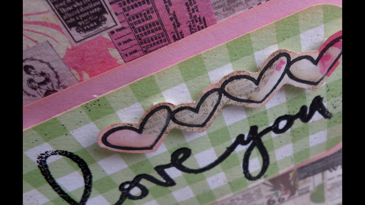 Tarjeta San Valentín - Love you - Tutorial