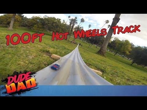 DIY 100ft Hot Wheels race track! | Dude Dad