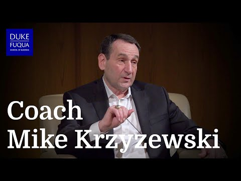 Distinguished Speaker Series: Mike Krzyzewski, Head Coach - Men's Basketball, Duke University