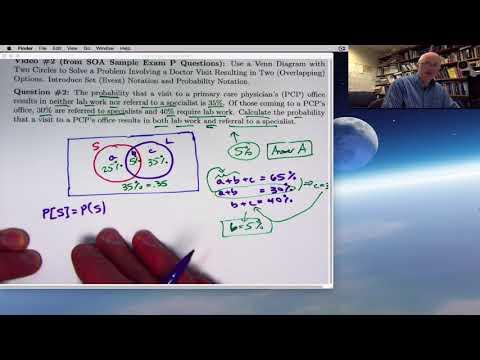 Actuarial Exam P (Exam 1) Prep: Venn Diagram Problem with Two ...